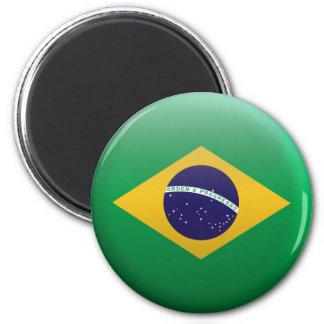 Flagge von Brasilien Runder Magnet 5,1 Cm