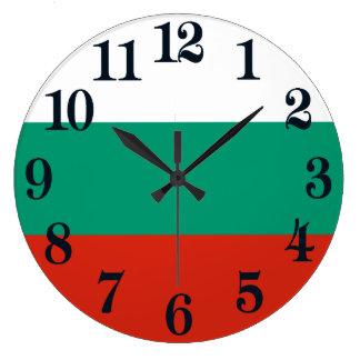 Flagge von Bulgarien oder von Bulgaren Große Wanduhr