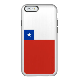 Flagge von Chile-Silber iPhone Fall Incipio Feather® Shine iPhone 6 Hülle