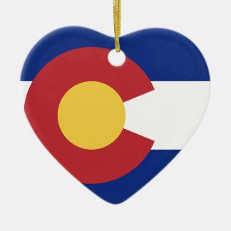 Flagge von Colorado Keramik Ornament