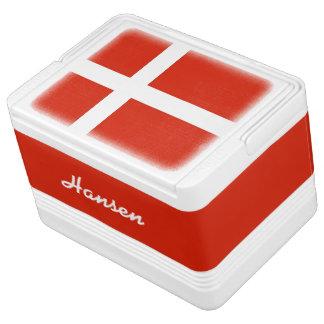 Flagge von Dänemark, Dannebrog! Addieren Sie Ihren Igloo Kühlbox