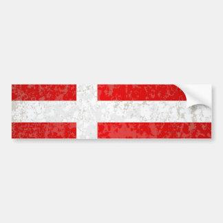 Flagge von Dänemark-Schmutz Autoaufkleber