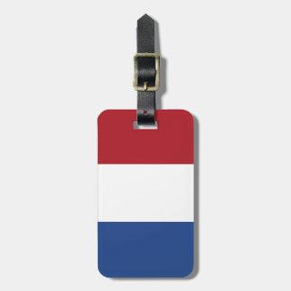 Flagge von den Niederlanden Kofferanhänger
