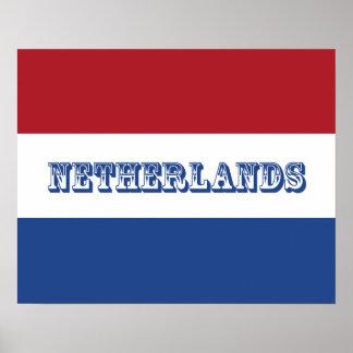 Flagge von den Niederlanden Poster