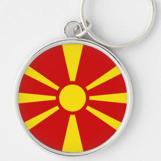 Flagge von der Republik Mazedonien Schlüsselanhänger