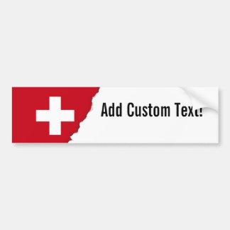 Flagge von der Schweiz Autoaufkleber