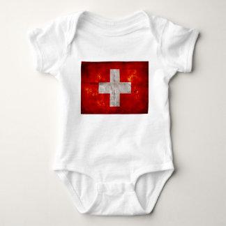 Flagge von der Schweiz Babybody