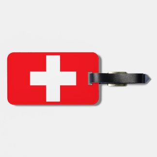 Flagge von der Schweiz Kofferanhängern