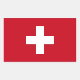 Flagge von der Schweiz Rechteckiger Aufkleber