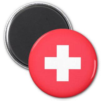 Flagge von der Schweiz Runder Magnet 5,1 Cm