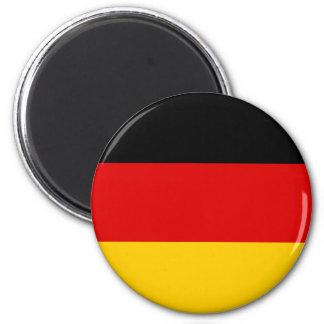 Flagge von Deutschland - Bundesflagge und Runder Magnet 5,7 Cm