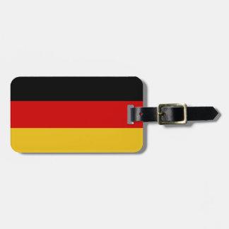 Flagge von Deutschland Gepäckanhänger