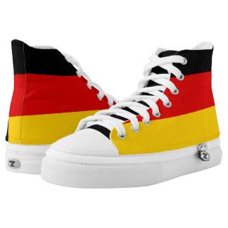 Flagge von Deutschland oder von Deutschland Hoch-geschnittene Sneaker