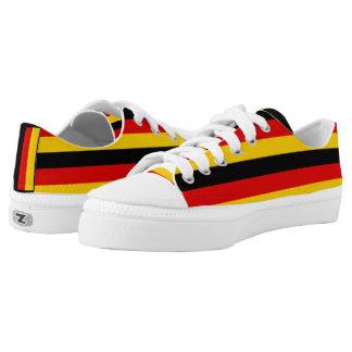 Flagge von Deutschland oder von Deutschland Niedrig-geschnittene Sneaker