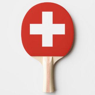Flagge von die Schweiz-Klingeln Pong Paddel Tischtennis Schläger