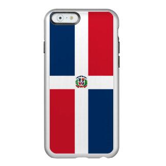 Flagge von Dominikanische Republik-Silber iPhone Incipio Feather® Shine iPhone 6 Hülle