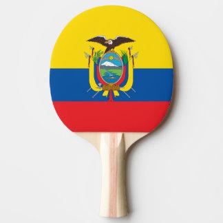 Flagge von Ecuador-Klingeln Pong Paddel Tischtennis Schläger