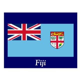 Flagge von Fidschi Postkarte