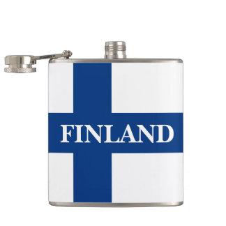 Flagge von Finnland blaues QuerSuomi Flachmann