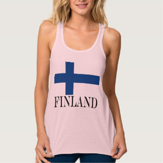 Flagge von Finnland blaues QuerSuomi Tank Top
