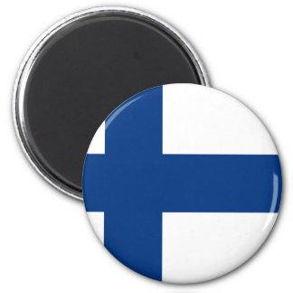 Flagge von Finnland (Suomen lippu, Finlands Runder Magnet 5,1 Cm