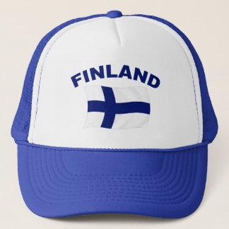 Flagge von Finnland Truckerkappe