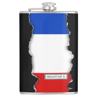 Flagge von Frankreich Flachmann
