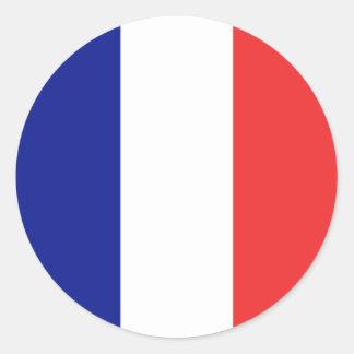 Flagge von Frankreich-Franzosen Tricolore Runder Aufkleber