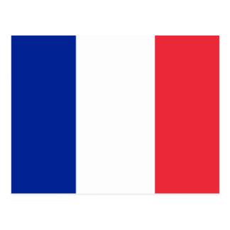 Flagge von Frankreich Postkarte