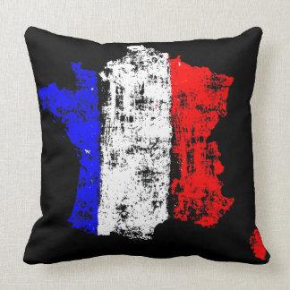 Flagge von Frankreich Vintag - Throw-Kissen Kissen