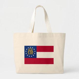 Flagge von Georgia Jumbo Stoffbeutel
