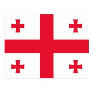 Flagge von Georgia (Land) Postkarte