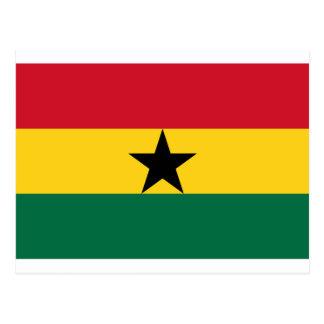 Flagge von Ghana - ghanaische Flagge Postkarte