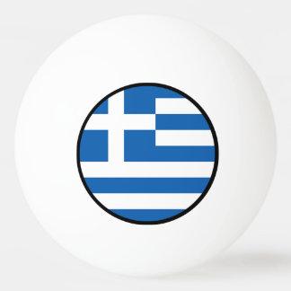 Flagge von Griechenland, griechisch Tischtennis Ball
