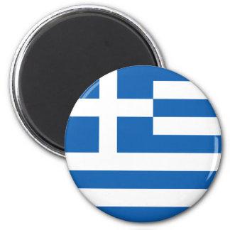 Flagge von Griechenland Runder Magnet 5,7 Cm