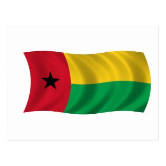 Flagge von Guinea-Bissau Postkarte