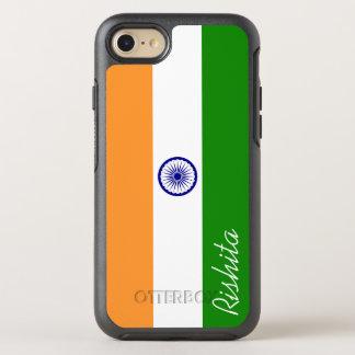 Flagge von Indien mit Monogramm OtterBox Symmetry iPhone 8/7 Hülle