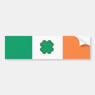 Flagge von Irland-Kleeblatt Autoaufkleber