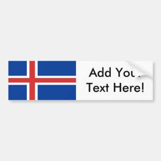 Flagge von Island Autoaufkleber