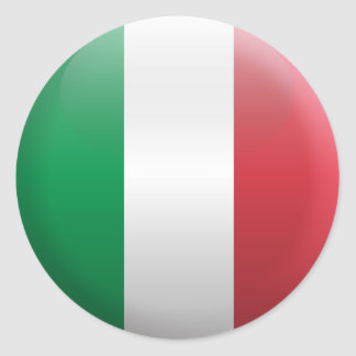 Flagge von Italien Runder Aufkleber