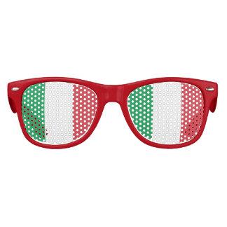 Flagge von Italien, Spaß-Italiener-Flagge Kinder Sonnenbrillen