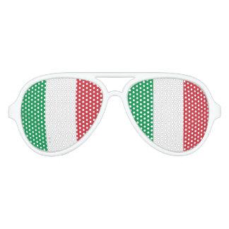 Flagge von Italien, Spaß-Italiener-Flagge Piloten Sonnenbrillen