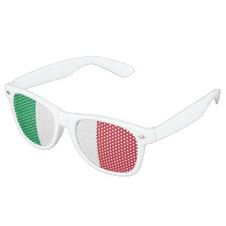Flagge von Italien, Spaß-Italiener-Flagge Retro Sonnenbrillen