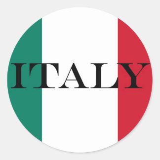 Flagge von Italiener Italiens Italien Runder Aufkleber