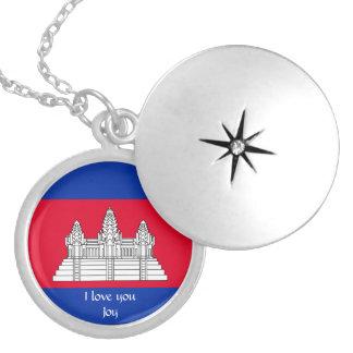 Flagge von Kambodscha Versilberte Kette