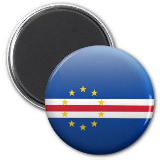 Flagge von Kap-Verde Runder Magnet 5,1 Cm