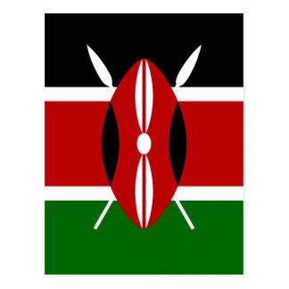 Flagge von Kenia Postkarte