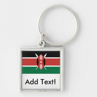 Flagge von Kenia Schlüsselanhänger