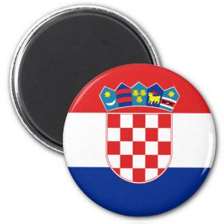 Flagge von Kroatien Runder Magnet 5,1 Cm
