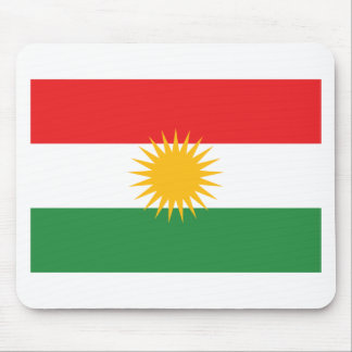 Flagge von Kurdistan; Kurde; Kurdisch Mousepad